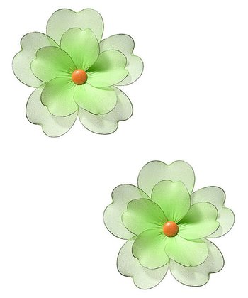 Green Multilayer Hanging Flower - Set of Two