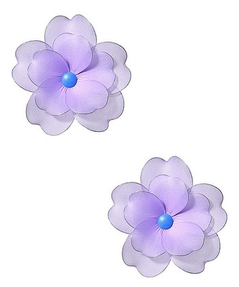 Purple Multilayer Hanging Flower - Set of Two