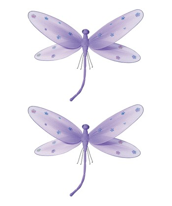 Purple Jeweled Dragonfly - Set of Two