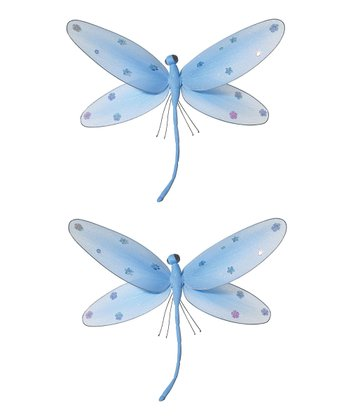 Blue Jeweled Dragonfly - Set of Two