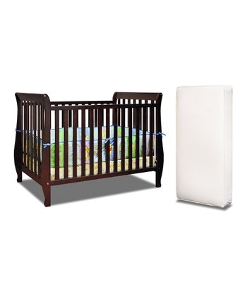 Cherry Naomi Convertible Crib & Mattress