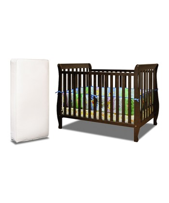 Espresso Naomi Convertible Crib & Mattress