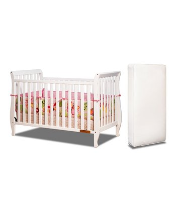 White Naomi Convertible Crib & Mattress