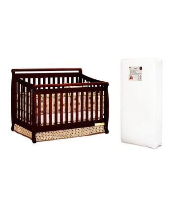 AFG baby furniture Cherry Amy Convertible Crib & Mattress
