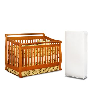 AFG baby furniture Pecan Amy Convertible Crib & Mattress