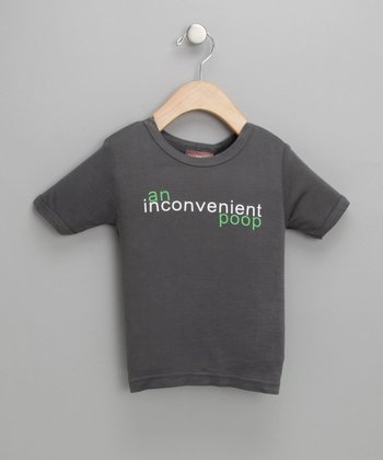 Slate 'An Inconvenient Poop' Tee - Infant