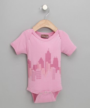 Pink Cityscape Bodysuit - Infant