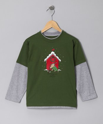 Green 'Good Things Come in Small Packages' Layered Tee - Boys