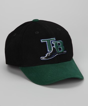 Black & Green Tampa Bay Rays Replica Baseball Cap