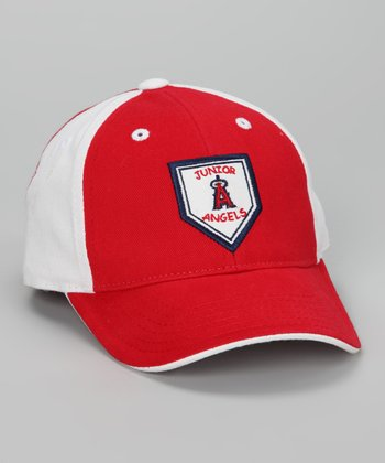 Red & White Los Angeles Angels Baseball Cap