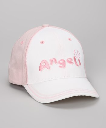 Pink & White Los Angeles Angels Baseball Cap