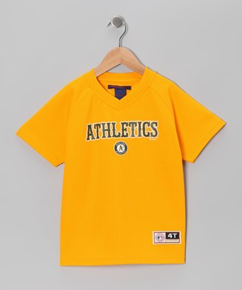 Gold Oakland Athletics Jersey - Toddler