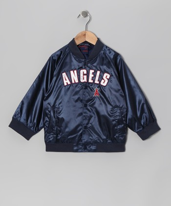 Navy Los Angeles Angels Jacket - Toddler