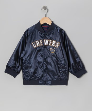 Navy Milwaukee Brewers Jacket - Infant & Toddler