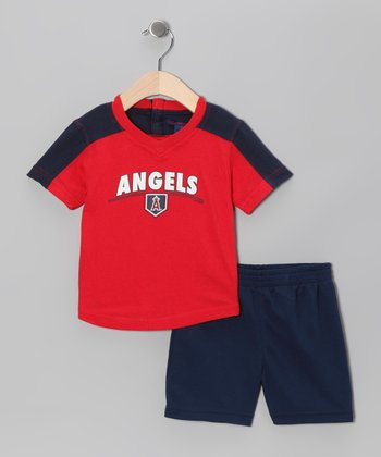 Red & Navy Los Angeles Angels Tee & Shorts - Infant