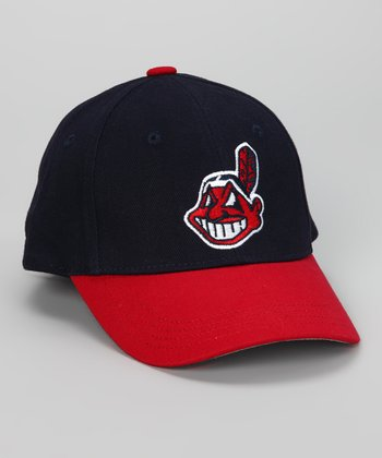 Red & Navy Cleveland Indians Baseball Cap