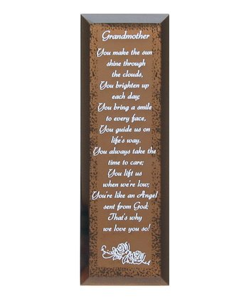 Grandmother Traditions Tabletop Mirror Plaque