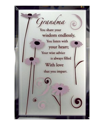 'Grandma' Tabletop Mirror Plaque