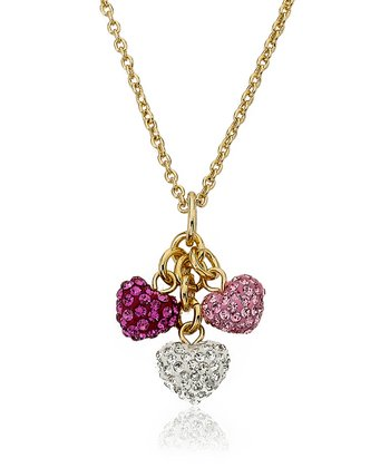 Gold Heart Cluster Necklace
