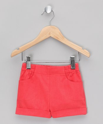 Red Cuffed Shorts - Infant & Toddler
