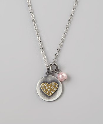 Silver 'I Love You' Heart Charm Necklace