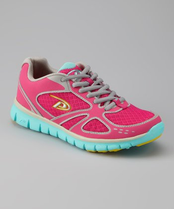 Raspberry & Blue Breeze Running Shoe - Women