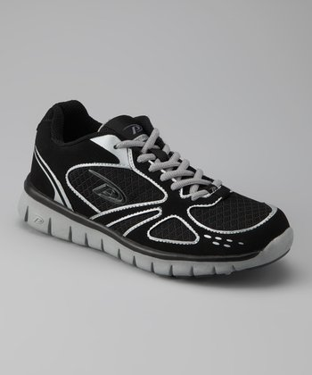 Black & Silver Flow Running Shoe