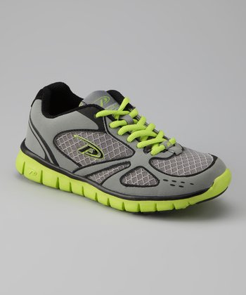 Gray & Lime Flow Running Shoe