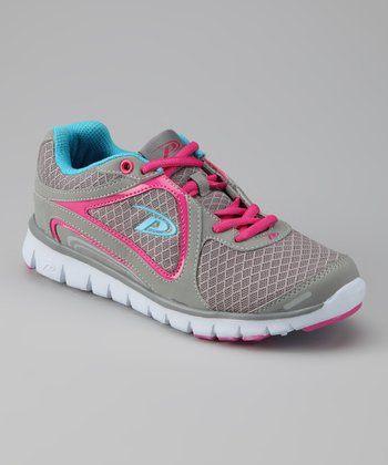 Gray & Fuchsia Ultra Running Shoe - Women