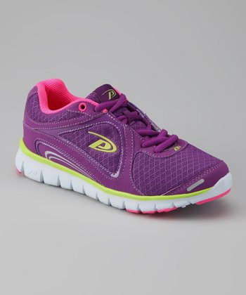 Purple & Neon Pink Ultra Running Shoe - Women