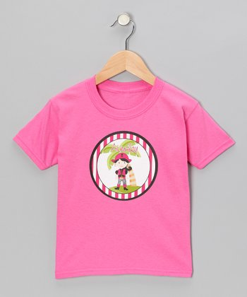 Black-Haired Pirate Personalized Tee - Infant, Toddler & Girls
