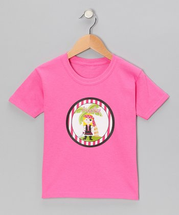 Blonde Pirate Personalized Tee - Infant, Toddler & Girls