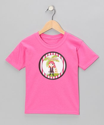 Red-Haired Pirate Personalized Tee - Infant, Toddler & Girls