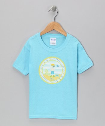 Blue Personalized Blonde Boy Tee - Infant, Toddler & Boys