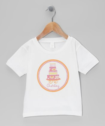 Pink Cake Personalized Tee - Infant, Toddler & Girls