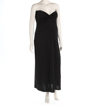 Black Knot Front Maternity Evening Gown