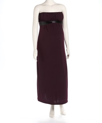 Eggplant Maternity Evening Gown