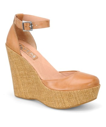 Arancio Hepburn Leather Wedge