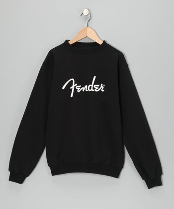 Black 'Fender' Sweatshirt - Boys