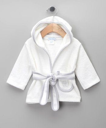 Blanco & Gris Robe - Infant