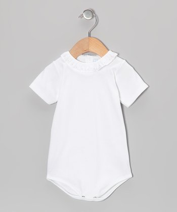 Blanco & Rosa Palo Ruffle Bodysuit - Infant