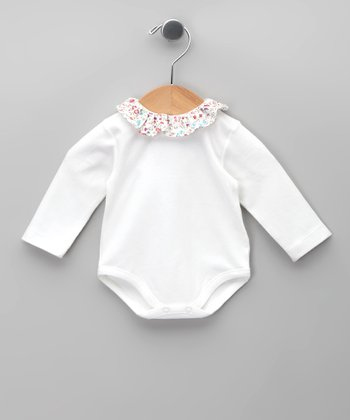 Blanco Ruffle Bodysuit - Infant