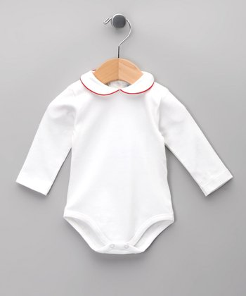 Blanco & Rojo Bodysuit - Infant