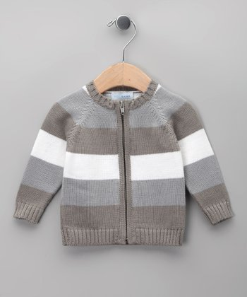 Gris Stripe Tricot Jacket - Infant & Toddler