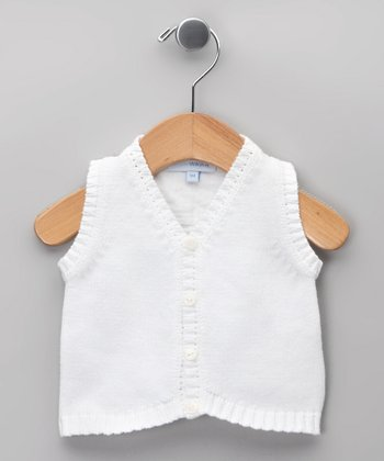 Blanco Tricot Linen-Blend Vest - Infant