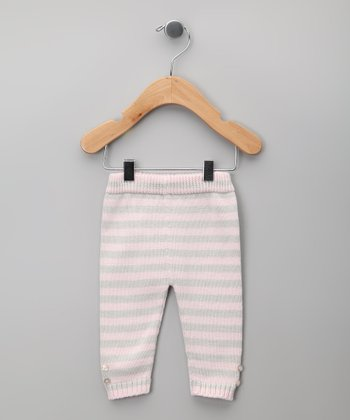 Gris & Rosa Stripe Knit Pants - Infant