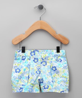 Azul Floral Shorts - Infant & Girls