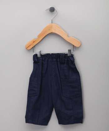 Negro Linen-Blend Pants - Infant