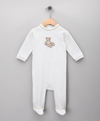 Blanco Teddy Bear Footie - Infant