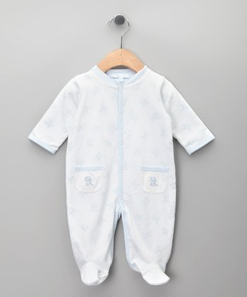 Blanco & Celeste Bear Footie - Infant